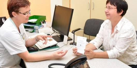 Einweisung für das Patientenportal am Altmark-Klinikum (Foto: Hagen Woecht)