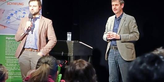 David Lennard und Edgar Kraul vom Kulturraum Altmark e.V. bei der Vorstellung des Portals (Foto: Paetow)